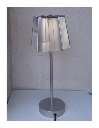 LAMPA STOŁOWA STALOWY KLOSZ