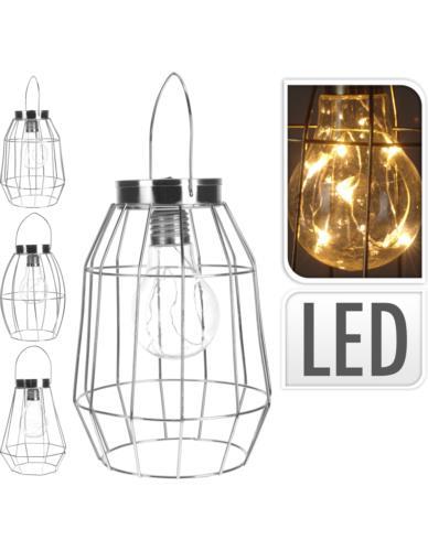 LAMPA DRUCIANA SREBRO LED