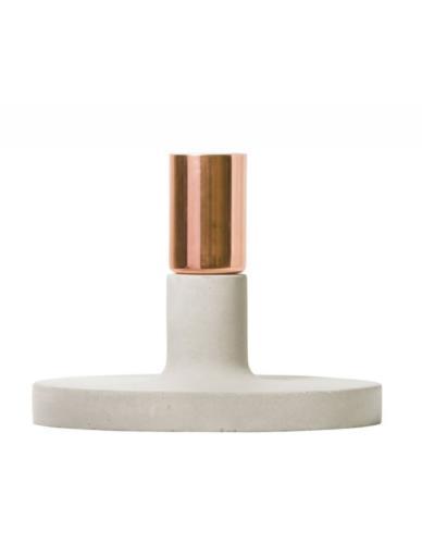 Lampa betonowa Stołowa Miedź