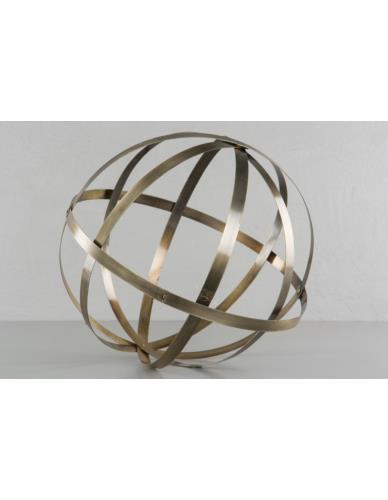 Metalowa kula ażurowa mosiądz D45 cm