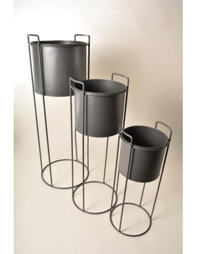 Osłonka metalowa  Cylinder na stojaku szara - 3 wielkości