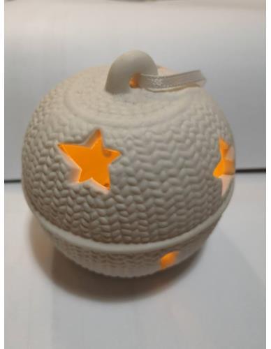 Bombka/Lampion Gips Biała LED