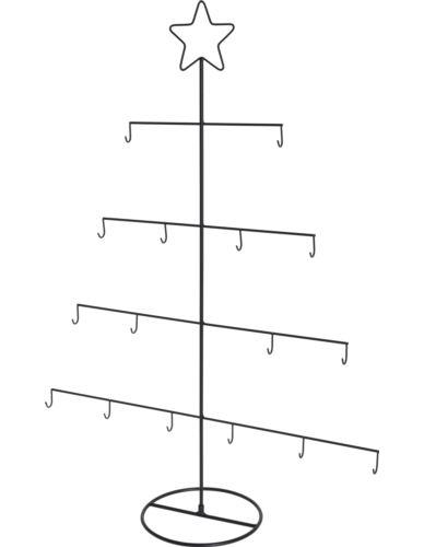 Choinka druciana z gwiazdą H76 cm