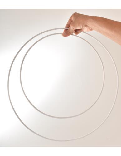 Obręcz metalowa biała D30cm