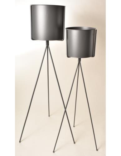 Osłonka metalowa na stojaku szara - 2 wysokości