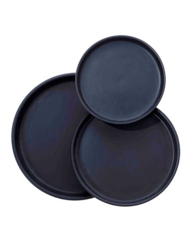 Talerz/Taca Czarny Ceramika D24 cm