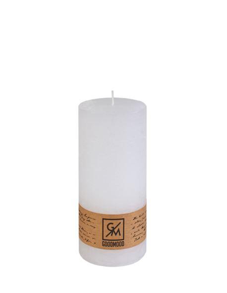 Świeca walec 150/70 mm biała
