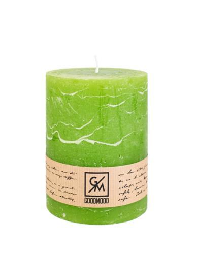Świeca walec 130/100 mm limonka