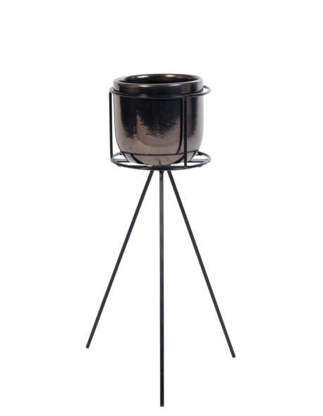 Doniczka ceramiczna na stojaku niskim