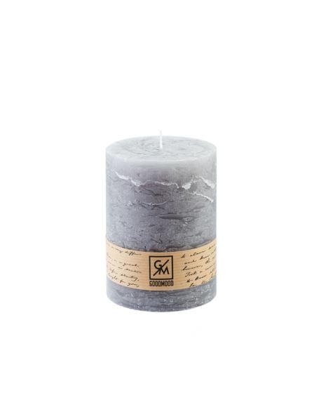 Świeca walec 130/100 mm szara
