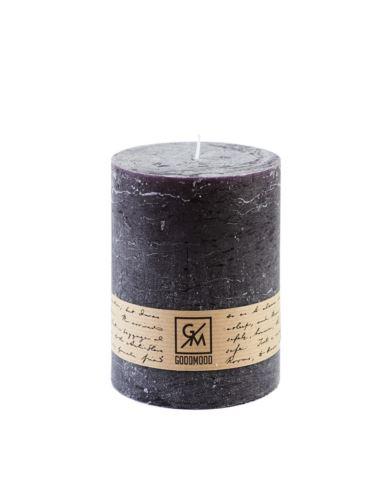 Świeca walec 130/100 mm czarna