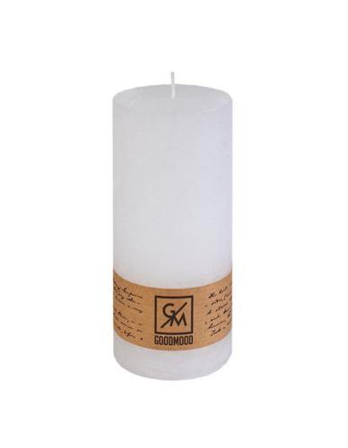 Świeca walec 200/100 mm biała