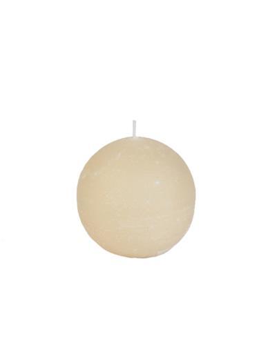 Świeca kula 100 mm kremowa