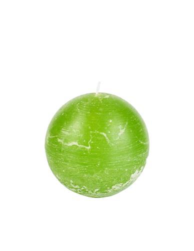Świeca kula 100 mm limonka