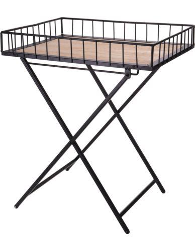 Stolik składany metalowy