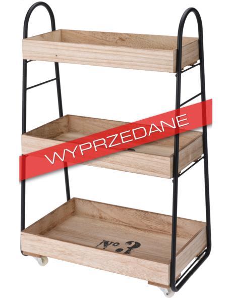 """Regał drewniany 3-półki z metalowymi elementami """"By Cargo"""""""