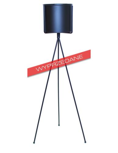 Osłonka metalowa niska na stojaku czarna