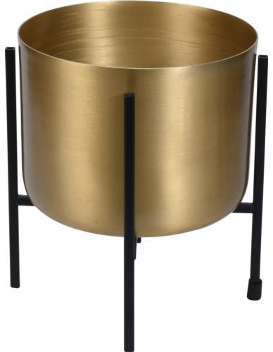 Osłonka metalowa na stojaku złota mała