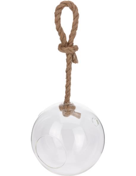 Bańka Szklana ma sznurze 20 cm