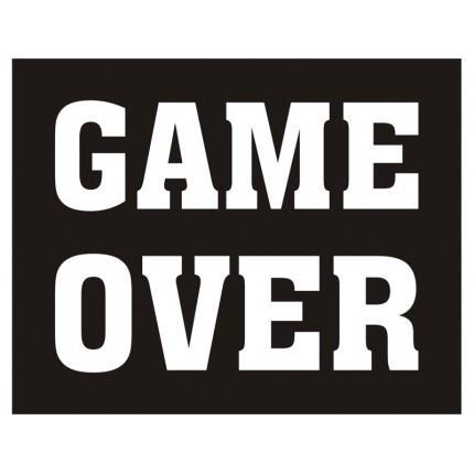 """Naklejki na buty """"Game Over"""""""
