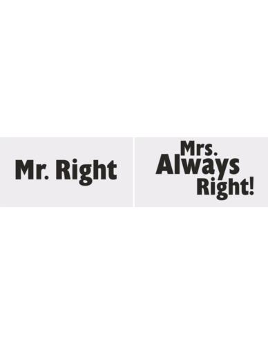 "Tabliczki ""Mr Right / Mrs Always"""