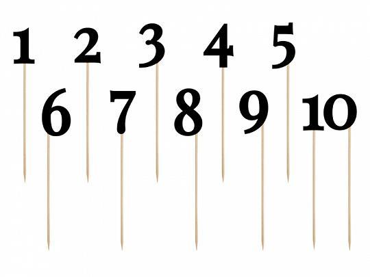 Numery papierowe na piku czarne