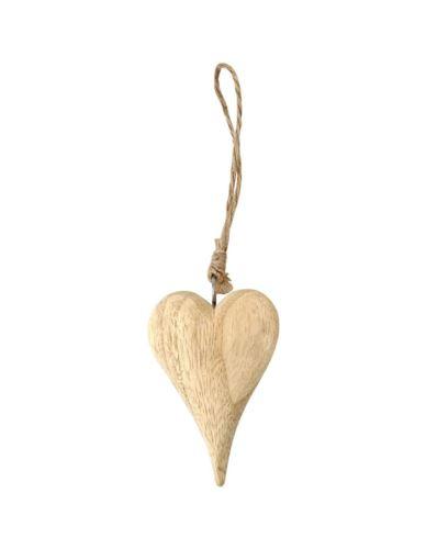 Serce drewniane H9,5 cm