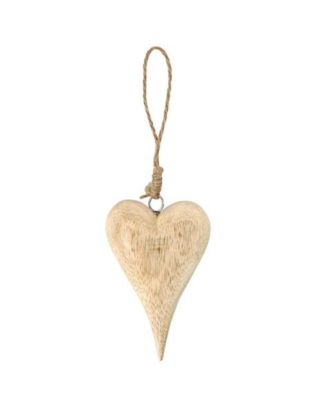 Serce drewniane H12 cm