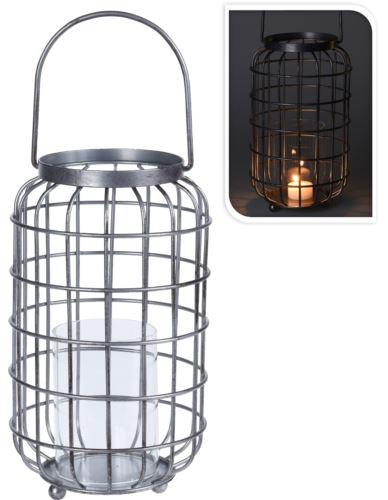 Lampion Druciany ze szklanym wkładem