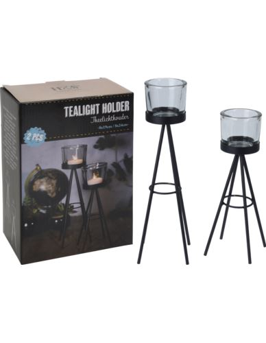 Świeczniki tealight na stojaczkach 2 szt.