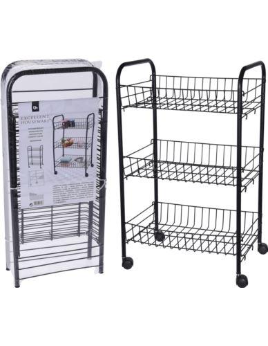 Wózek metalowy 3 koszyki