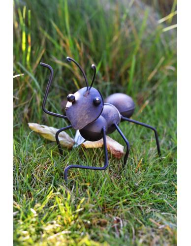 Mrówka metalowa czarna - Dekoracja