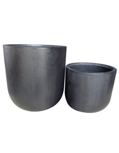 Donice- Cylindry Beton Czarne Duże 2 szt