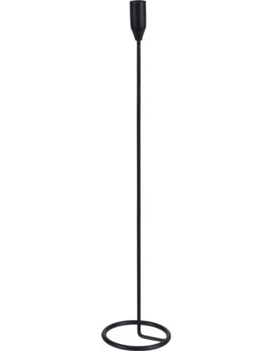 Świecznik Metal Pojedynczy Czarny H40cm