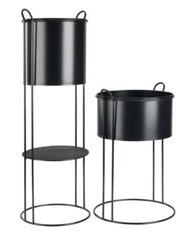 Osłonki metalowe cylinder na stojakach 2 szt.