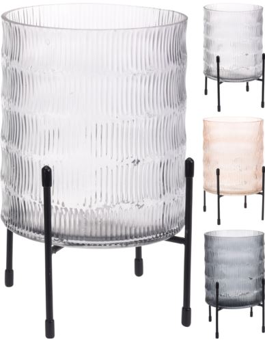 Lampion Szklany na metalowym stojaku