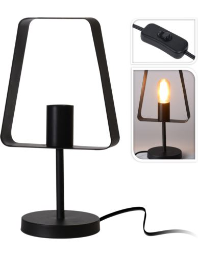 Lampa nocna metalowa czarna