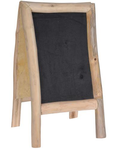 Potykacz z tablicą z drewna tekowego