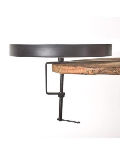 Uchwyt pod Świeczkę metal czarny 25x17 cm