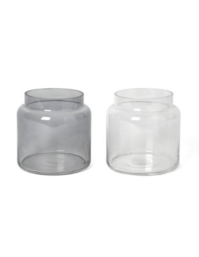 Wazon szklany Cylinder 2 kolory 15x H15cm