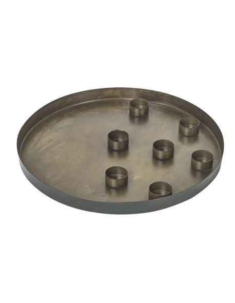 Taca metalowa z wkładami na tealighty