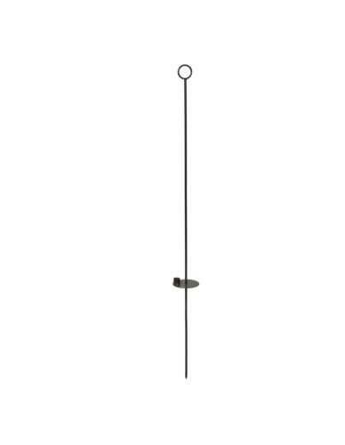 Świecznik metalowy wiszący pręt H120cm
