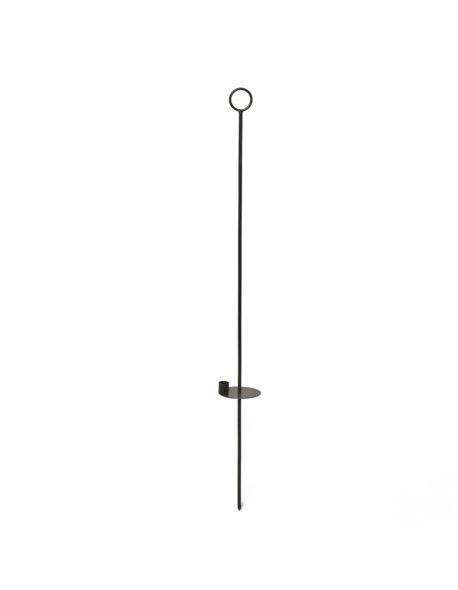 Świecznik metalowy wiszący pręt H100cm