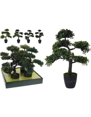 Drzewko Bonsai w donicy sztuczne H50 cm Mix