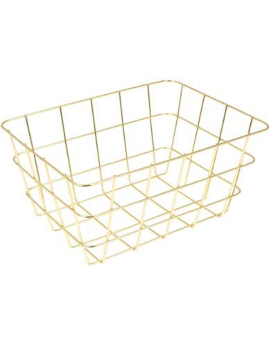Koszyk Druciany Złoty prostokąt XS