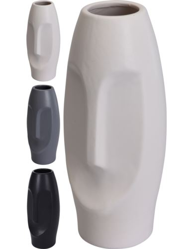 Wazon Ceramiczny Twarz H24cm kolor mix