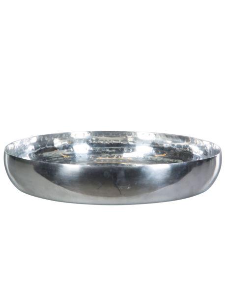 Osłonka/Taca  metalowa okragła srebrna