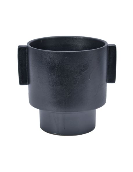 Osłonka metalowa czarna cylinder z uszami h22,5