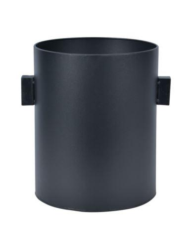 Osłonka metalowa czarna cylinder h30