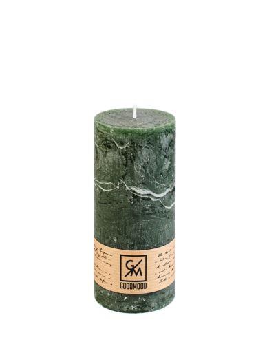 Świeca walec 150/50 mm zielona